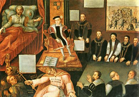 Deathbed Scene - Henry VIII World History Visual Arts Famous People Philosophy
