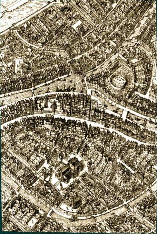 Leiden - Map from 1600 History Social Studies Tragedies and Triumphs Geography