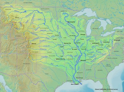 Mississippi River - Map Locator Social Studies Geography