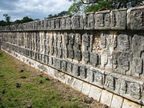 Chichen Itza - Wall of Skulls Geography Social Studies History Visual Arts