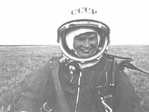 Valentina Tereshkova Wearing Her Space Suit Famous People Russian Studies Famous Historical Events Social Studies Aviation & Space Exploration STEM