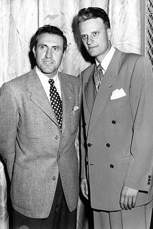 Image result for Louis Zamperini and billy graham images