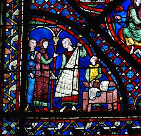 Story of St. James - Sponsored Window at Chartres Medieval Times Philosophy Visual Arts