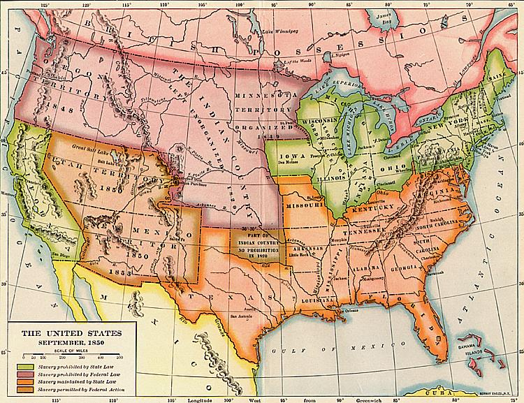 The United States September - Us map 1850