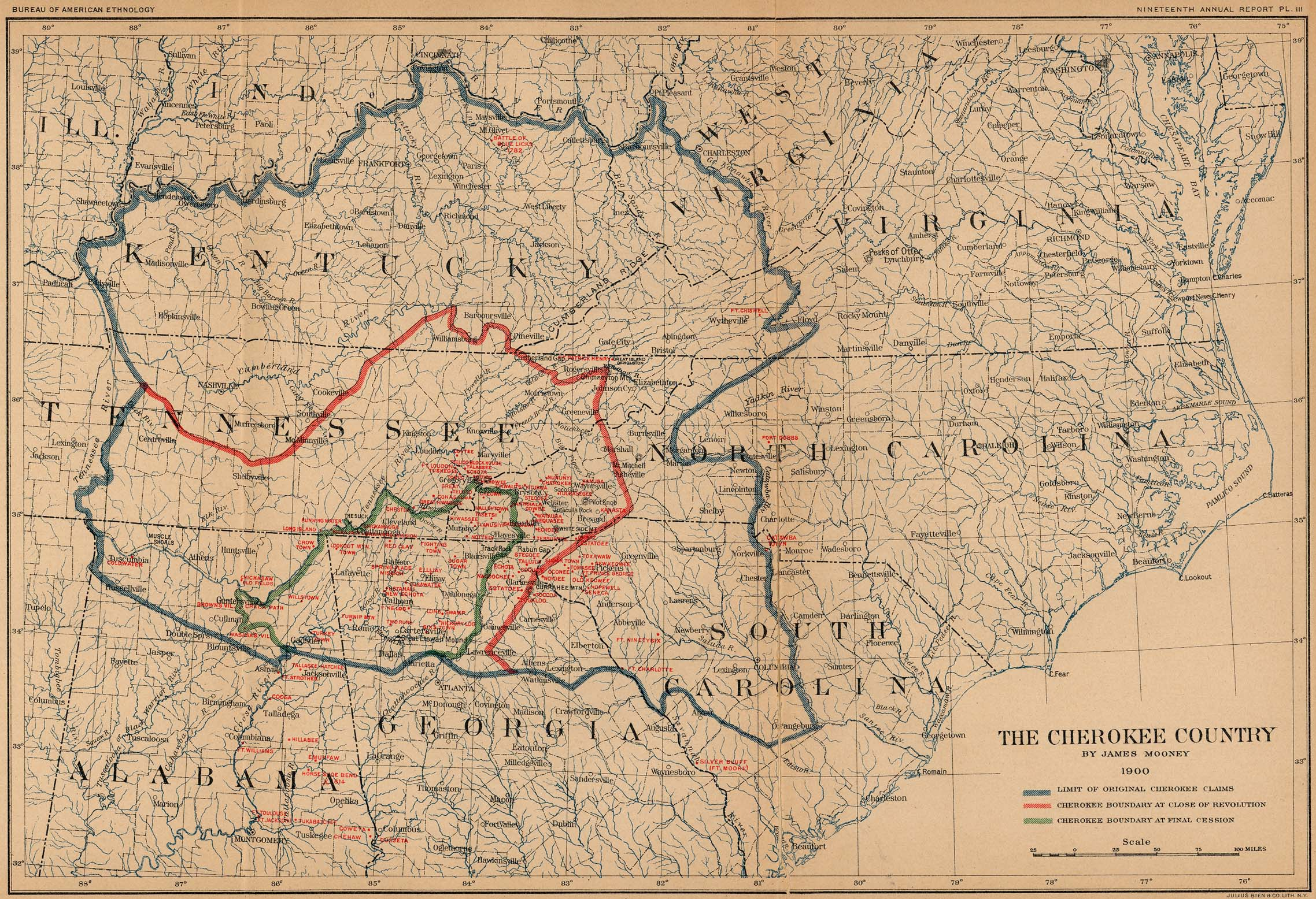 Map The Cherokee Country
