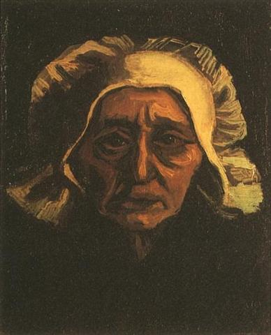 Head of an Old Peasant Woman with White Cap Visual Arts Nineteenth Century Life Tragedies and Triumphs