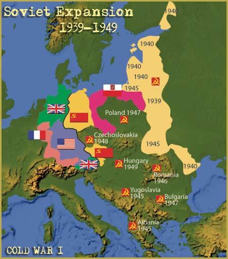 Map: Soviet Expansion 1939-1949