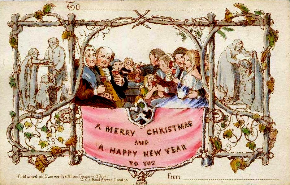 englands first commercial christmas card victorian age visual arts nineteenth century life