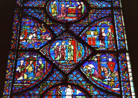 Stained-Glass Windows of Chartres Cathedral Philosophy Visual Arts Disasters