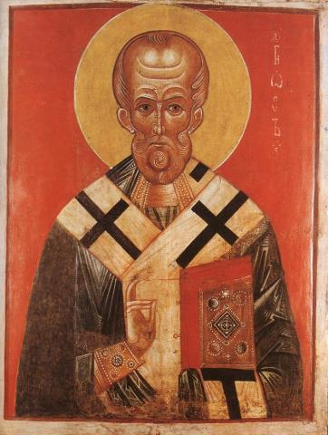 Icon of St. Nicholas - Unknown Russian Master Social Studies World History Visual Arts Philosophy