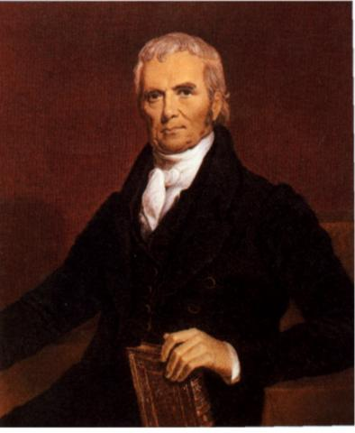 JOHN MARSHALL (Illustration) American History Government History Social Studies Trials Law and Politics