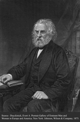 Henry Wadsworth Longfellow-Portrait and Background