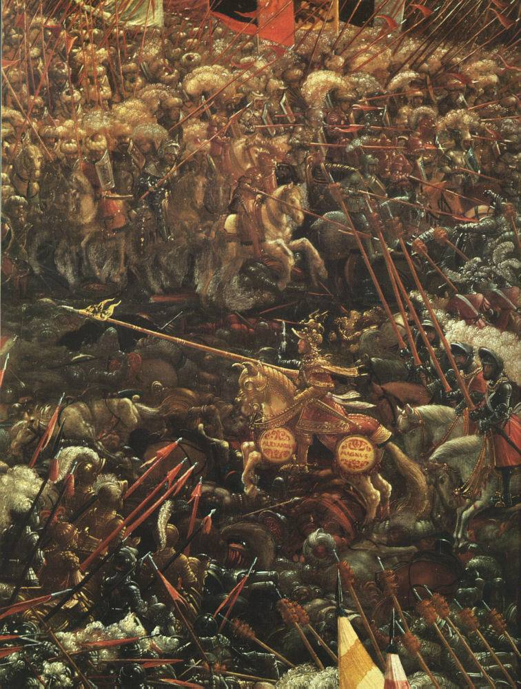 Battle of alexander at issus for Battle of issus painting
