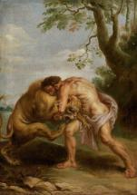 Listen to story of Hercules fighting a lion