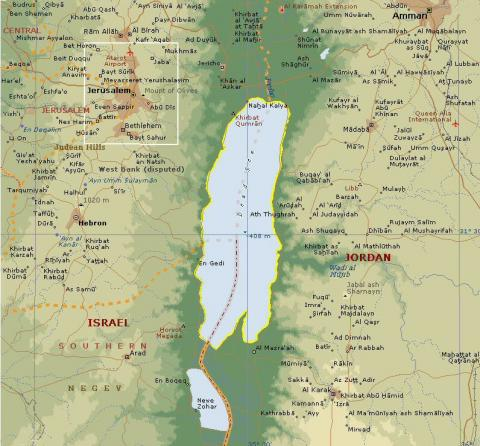 View of the Dead Sea Social Studies Geography
