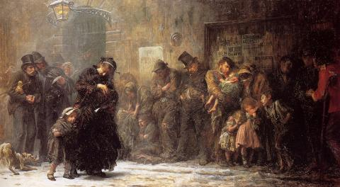 Homeless and Hungry People in Britain in Victorian Times Visual Arts Victorian Age Nineteenth Century Life Ethics Social Studies