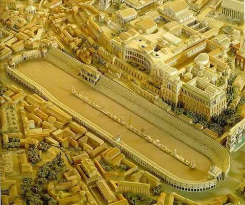 The Circus Maximus - Aerial View Model Geography Ancient Places and/or Civilizations Social Studies Visual Arts World History