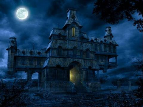 Halloween and a Haunted House (Illustration) Fiction Poetry Awesome Radio - Narrated Stories