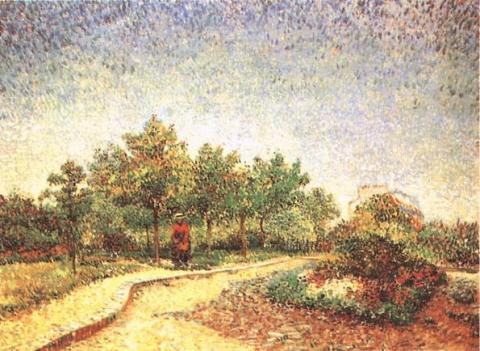 Lane in Voyer d'Argenson Park at Asnieres - 1887 Famous People Social Studies Tragedies and Triumphs Visual Arts Nineteenth Century Life