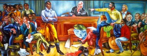 THE FIRST TRIAL (Illustration) American Presidents African American History Civil Rights Film Law and Politics Nineteenth Century Life Trials