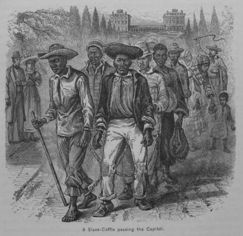 Slave Coffel in Washington City, 1819 American History African American History Civil Rights Ethics Law and Politics Nineteenth Century Life Slaves and Slave Owners Famous Historical Events