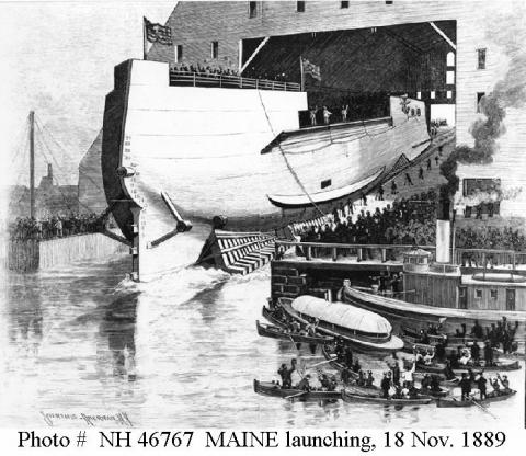 Launching the USS Maine American History Awesome Radio - Narrated Stories Social Studies Sports Tragedies and Triumphs