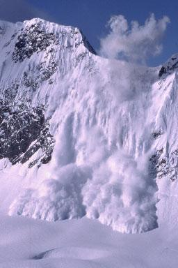 Avalanche - Snow Slides Away From the Mountain Disasters Sports STEM Geography