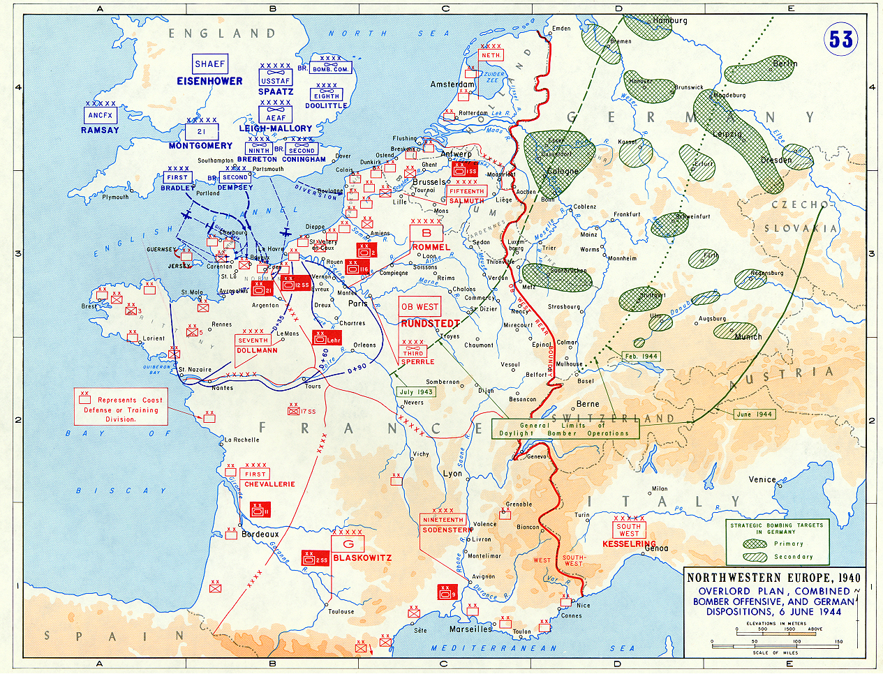 Map - Northwestern Europe, 1940