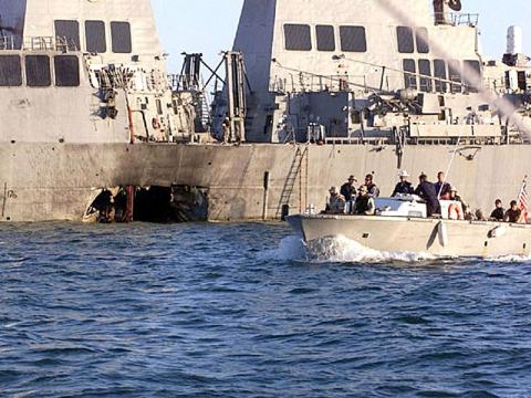 USS Cole - Patrolling the Harbor American History Famous Historical Events Tragedies and Triumphs Disasters