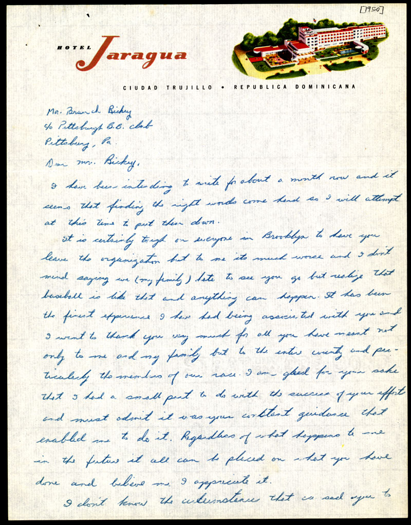 jackie robinson letter to branch rickey pg