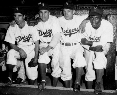 Brooklyn Dodger Infielders - 1947 Visual Arts American History African American History Famous People Social Studies Sports