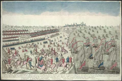 Surrender at Yorktown-With French Assistance