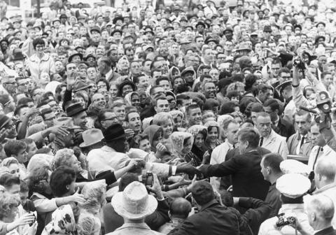 JFK with Ft Worth Crowd Visual Arts American History American Presidents Social Studies The Kennedys