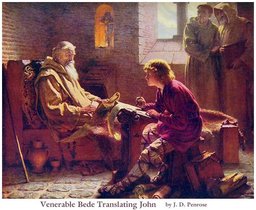 Bede translating Gospel of John