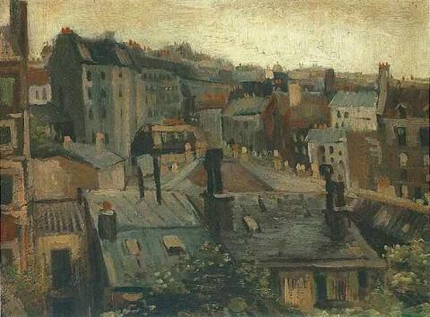 Paris Years - View of Roofs and Backs of Houses  Geography Social Studies Tragedies and Triumphs Nineteenth Century Life Visual Arts