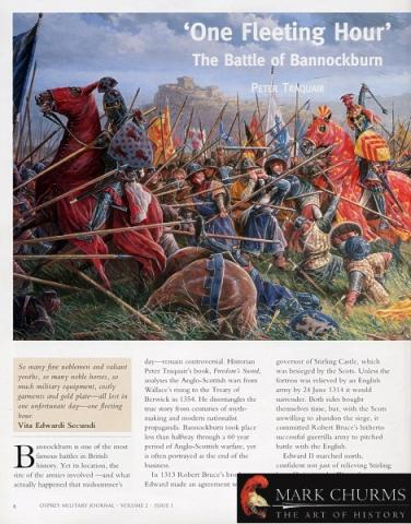 One Fleeting Hour Battle of Bannockburn by Peter Traquair