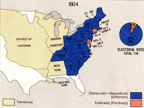 Election of 1804 - Results Famous Historical Events American History American Presidents Government Law and Politics