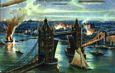 Zeppelins Over London History Social Studies Aviation & Space Exploration STEM Visual Arts World War I Disasters