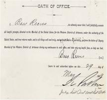 Bass Reeves - Oath of Office as U.S. Deputy Marshal