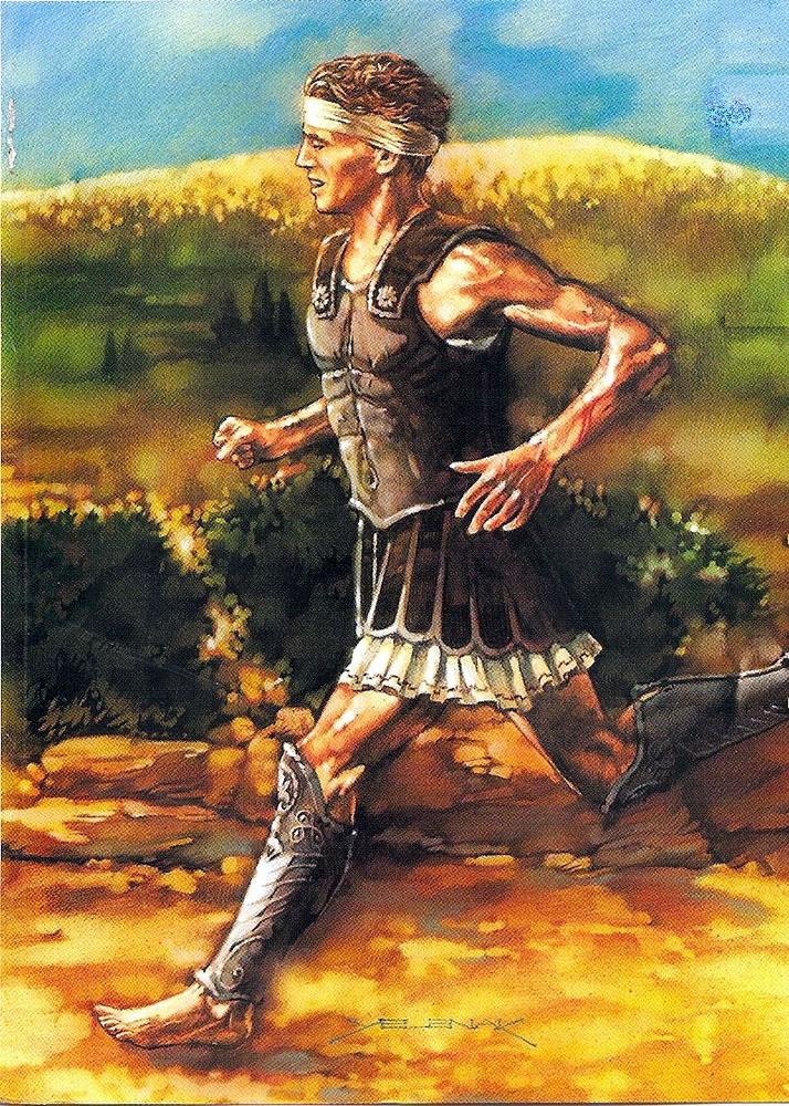 Legendary Runner of Marathon - Pheidippides (Illustration) Ancient ...