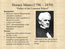Horace Mann: Father of Public Education