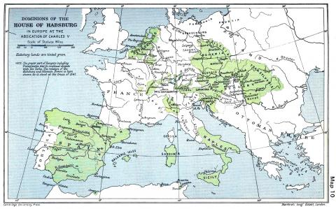 Habsburg (Hapsburg) Empire - European Territory, 1547 Geography Medieval Times World History Famous People