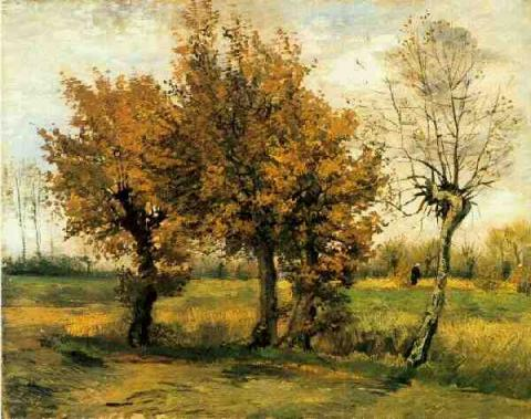 Autumn Landscape with Four Trees Tragedies and Triumphs Nineteenth Century Life Visual Arts Geography