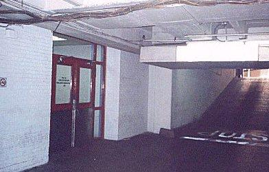 this is the basement garage of the dallas police department where the