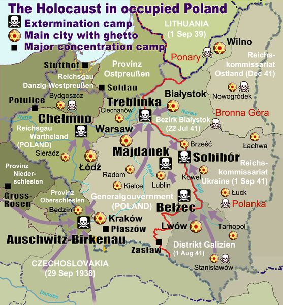 Map of Occupied Poland