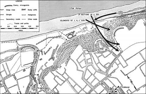 Fox Green Beach - Map and Operations Geography Famous Historical Events Visual Arts World War II