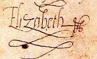Signature - Princess Elizabeth, 1549 Legends and Legendary People Visual Arts World History Social Studies
