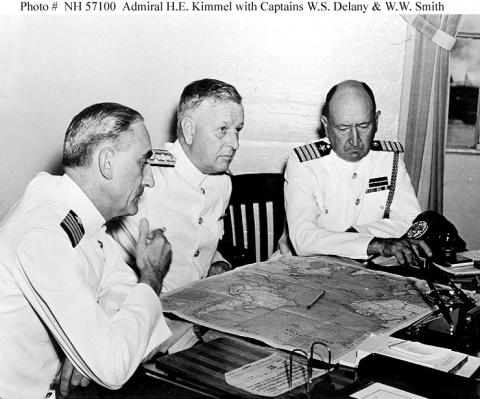 Admiral Kimmel with Planning Officers Government Social Studies World War II Ethics Law and Politics American History