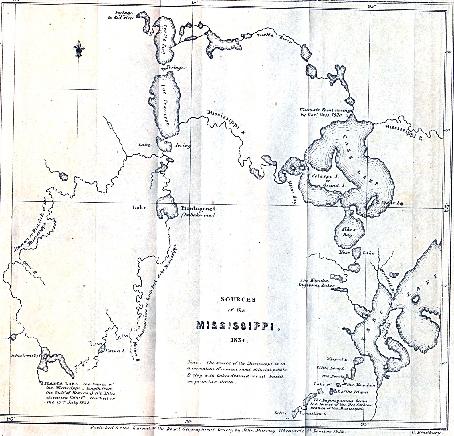 Map Sources Of The Mississippi River - Us map mississippi river