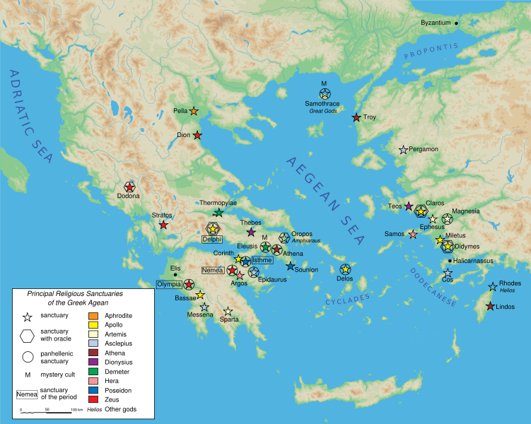 Principal religious sanctuaries in ancient greece principal religious sanctuaries in ancient greece geography ancient places andor civilizations archeological wonders history gumiabroncs Images